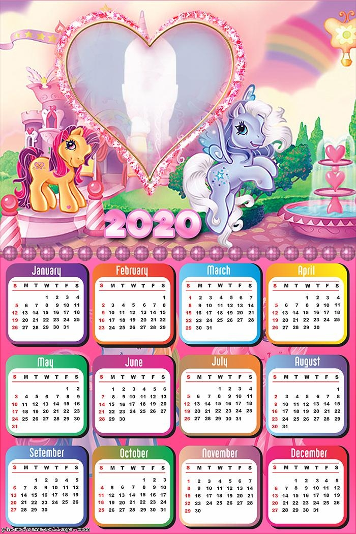 Colorful Ponies Calendar 2020