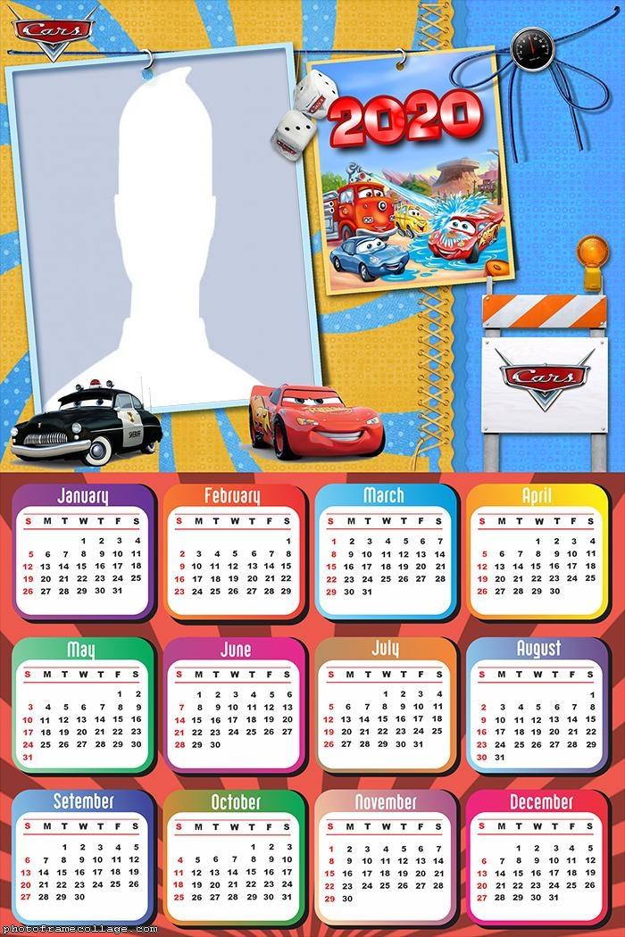 Movie Cars Police Calendar 2020