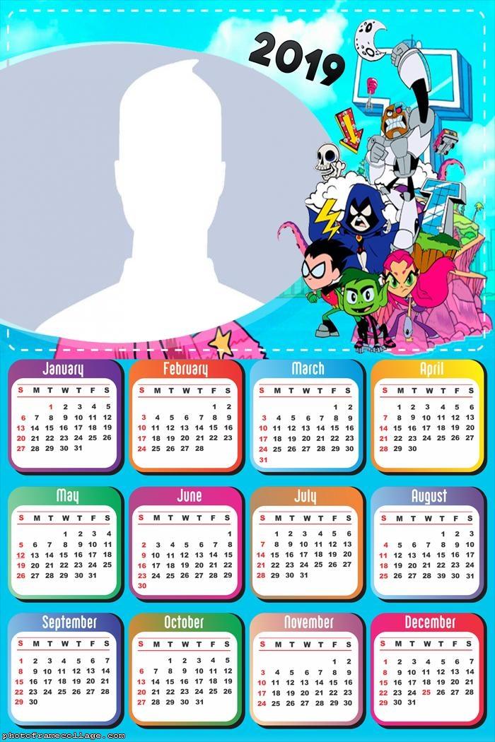 Teen Titans Calendar 2019