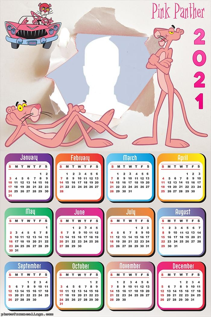 Pink Panther Calendar 2021