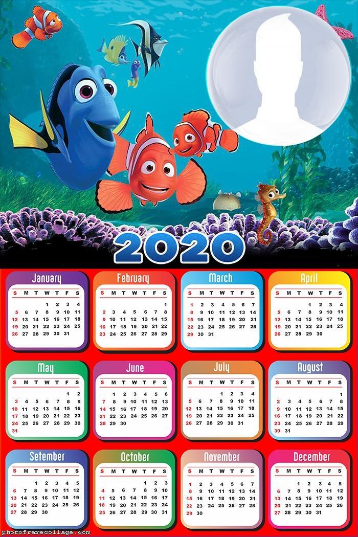 Frame Picture Nemo Calendar 2020