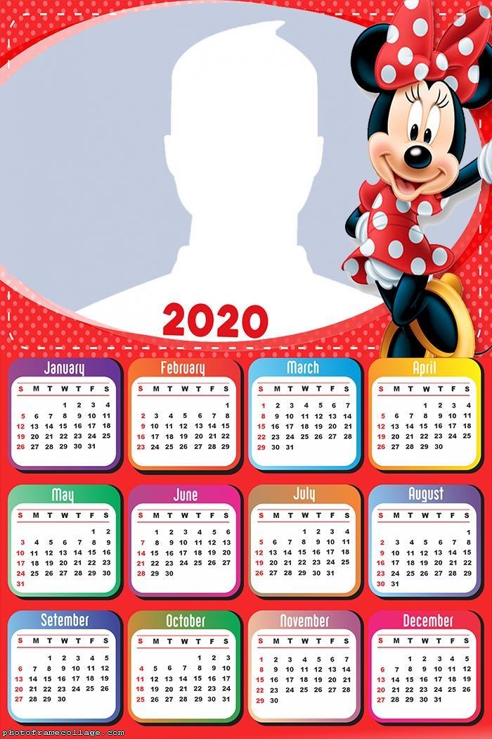 Minnie Mouse Red Dress Calendar 2020