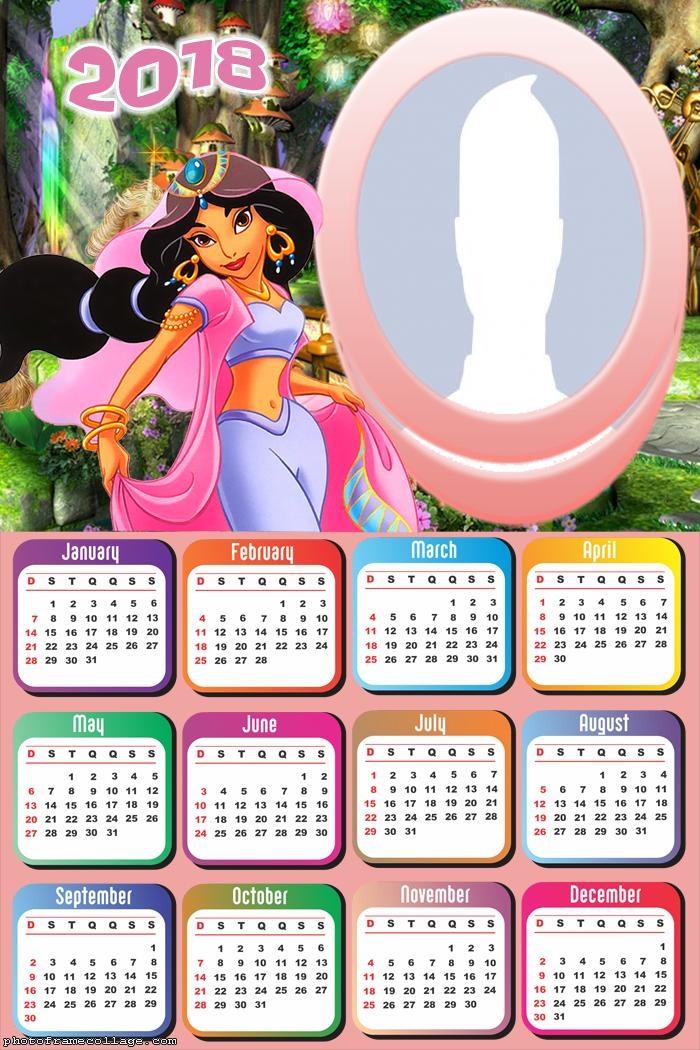 Calendar 2018 Jasmine
