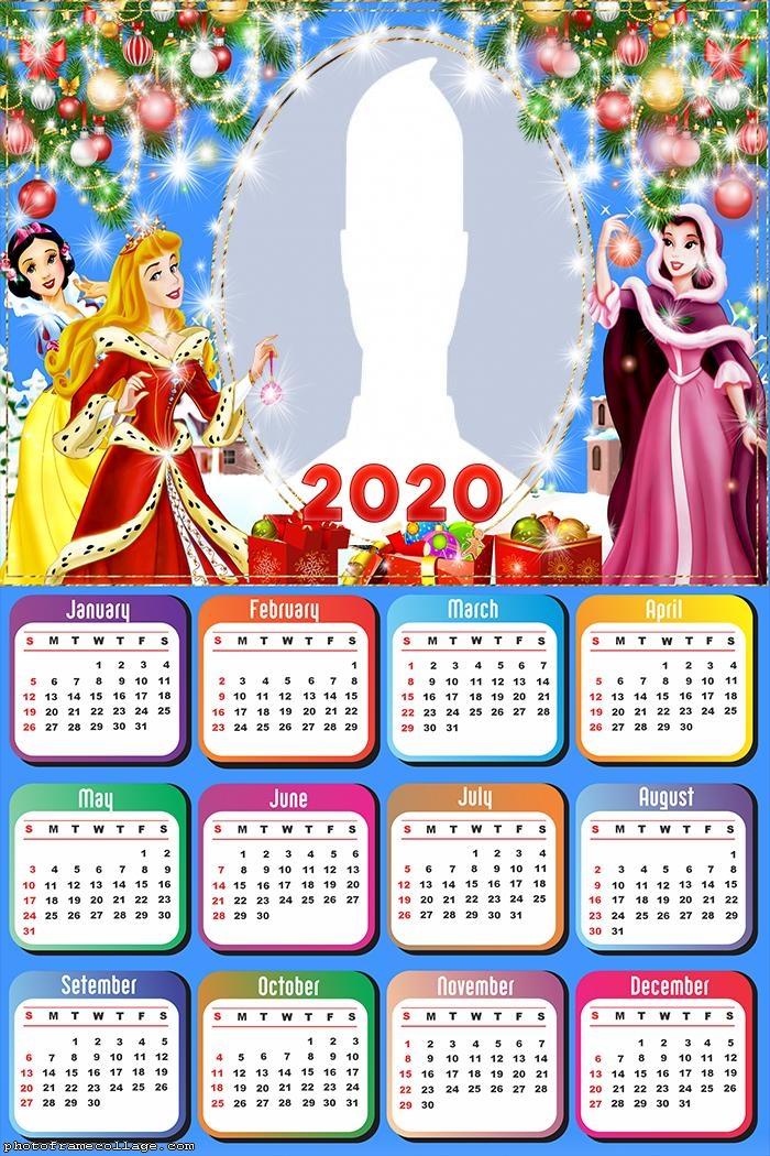 Christmas Princess Disney Calendar 2020