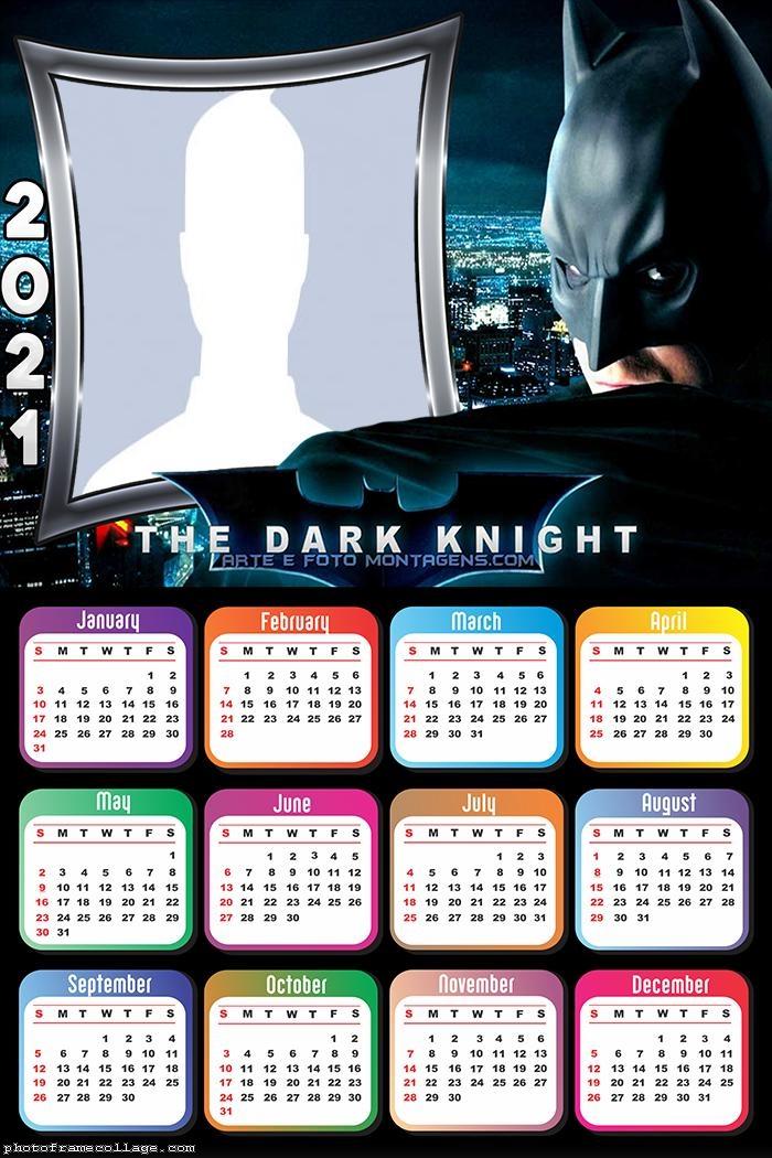 Calendar 2021 The Dark Knight Batman