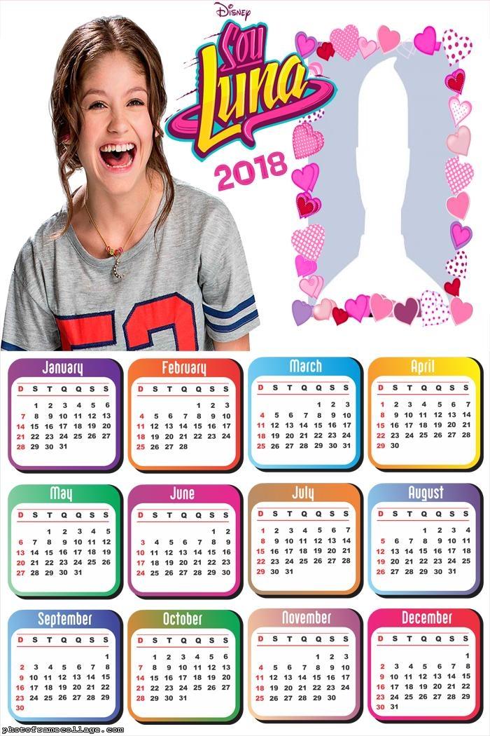 Calendar 2018 Soy Luna | Photo Frame Collage