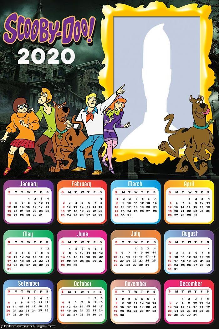Scooby Doo Characters Calendar 2020
