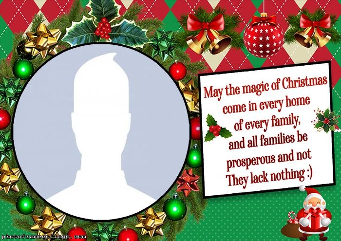 Frame Picture Christmas Message