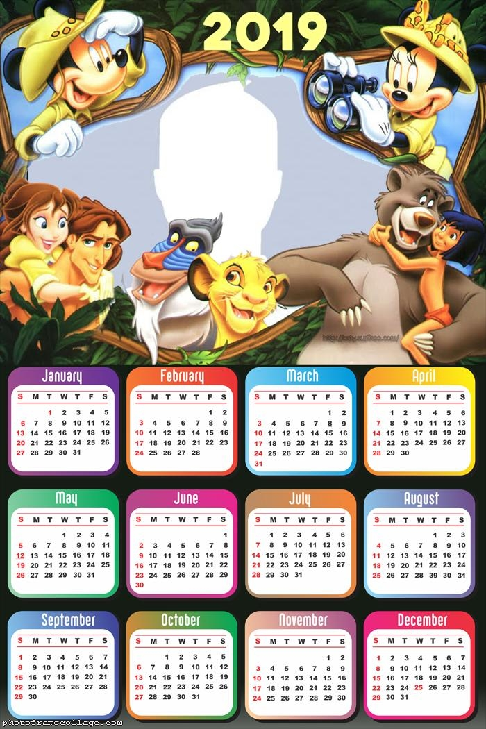 Mickey Safari Disney Calendar 2019   Photo Frame Collage