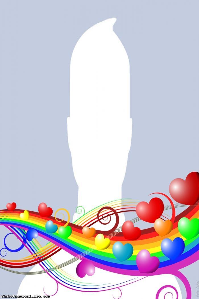 Rainbow Heart Collage