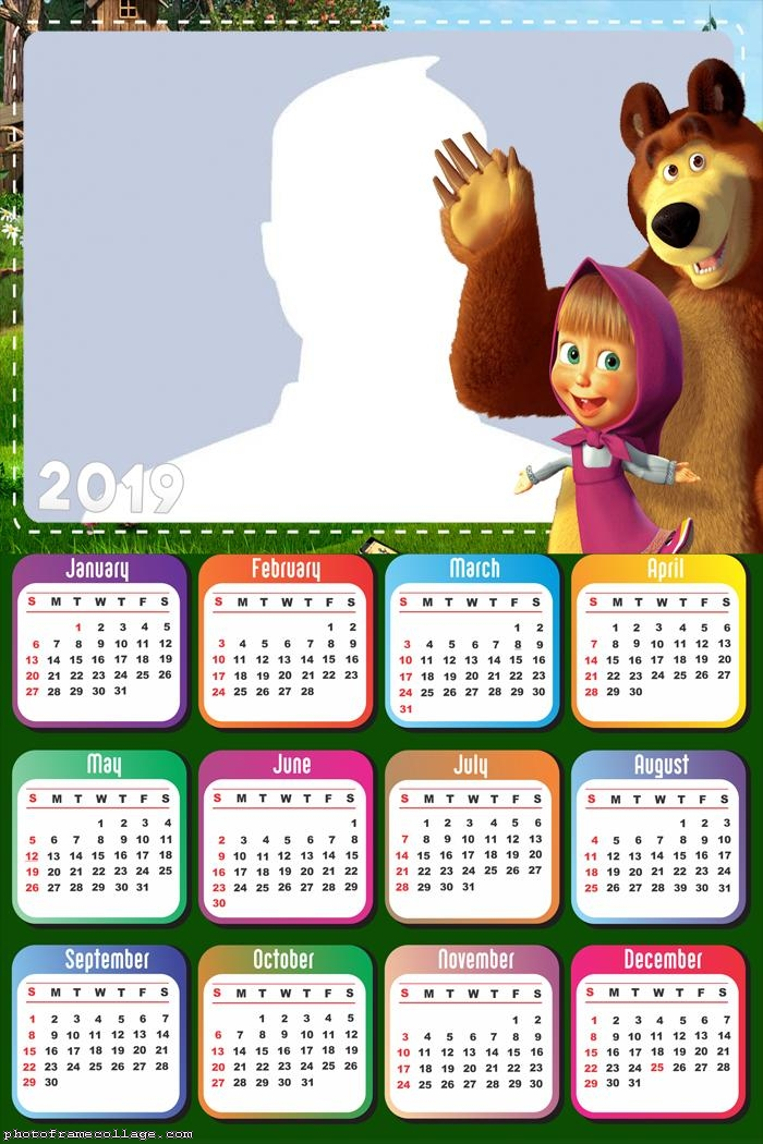 Masha and the Bear Calendar 2019