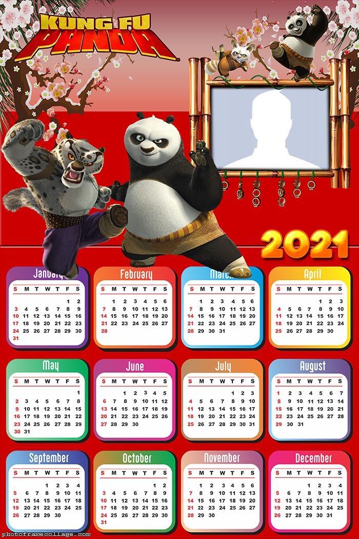 Calendar 2021 Kung Fu Panda
