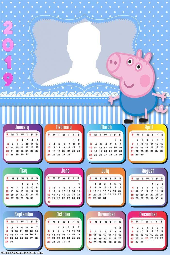 George Peppa Pig Calendar 2019
