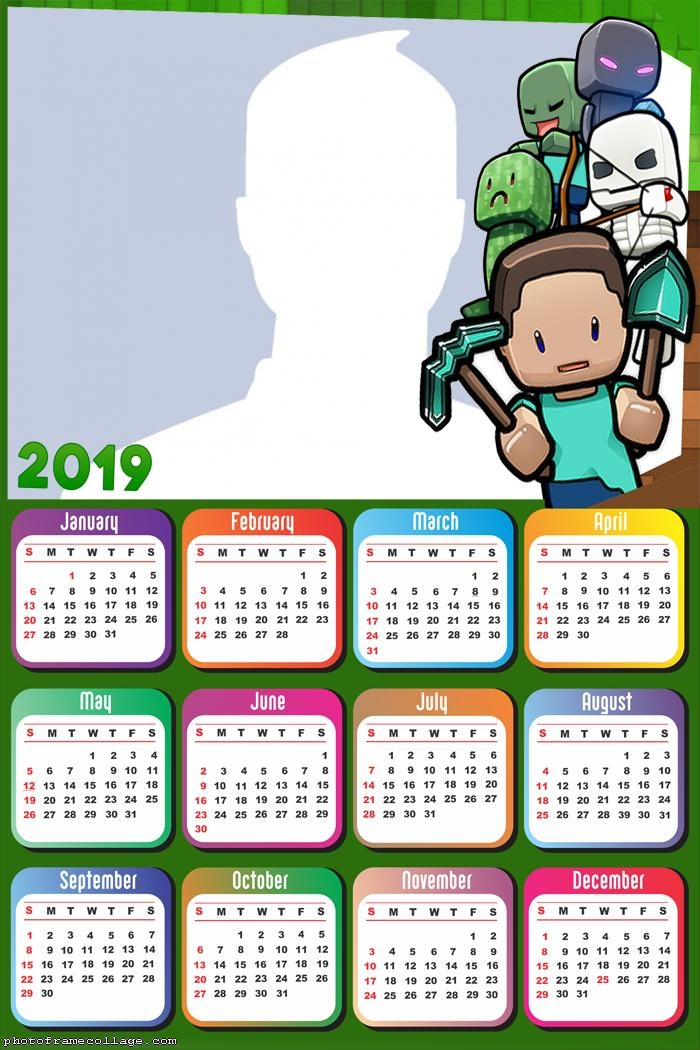 Minecraft Exploration Calendar 2019