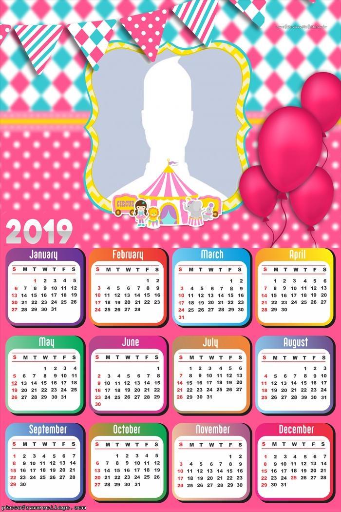 Pink Circus Girls Calendar 2019