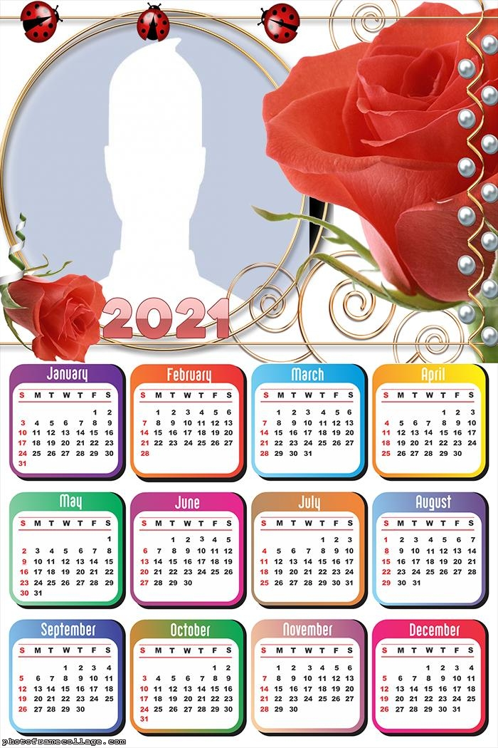 Calendar 2021 Red Roses