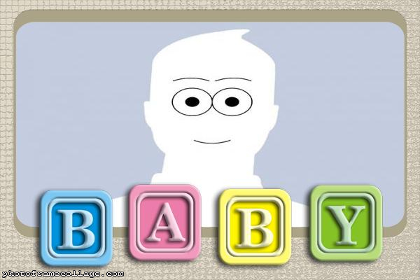 Baby Letters Photo Collage Free