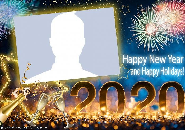 Frame Picture Happy New Year 2020