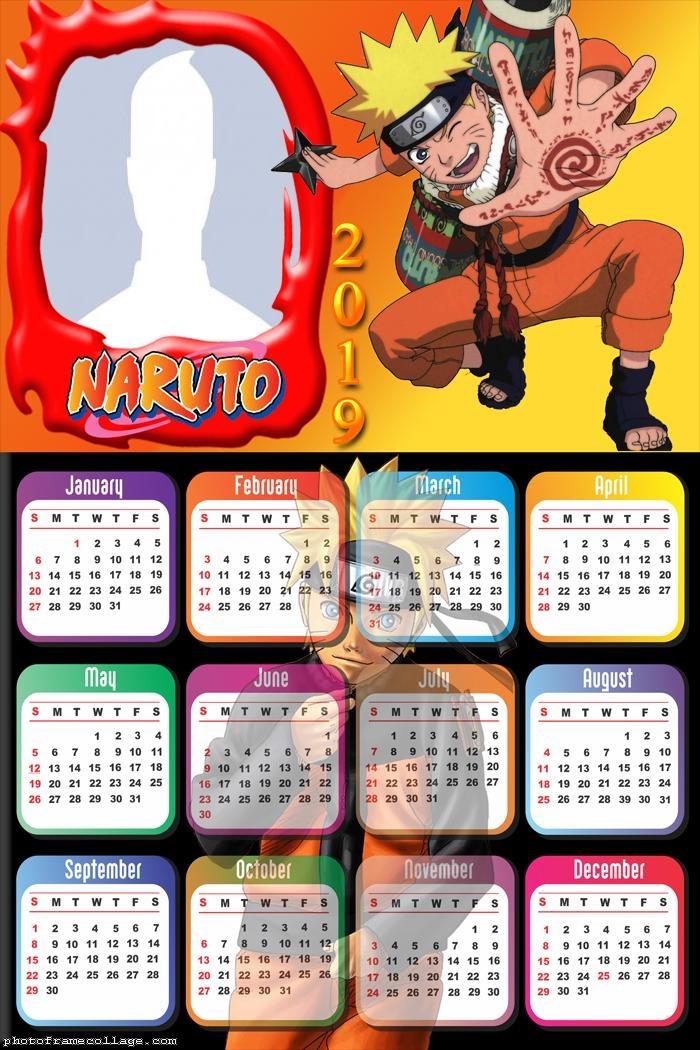 Naruto Calendar 2019
