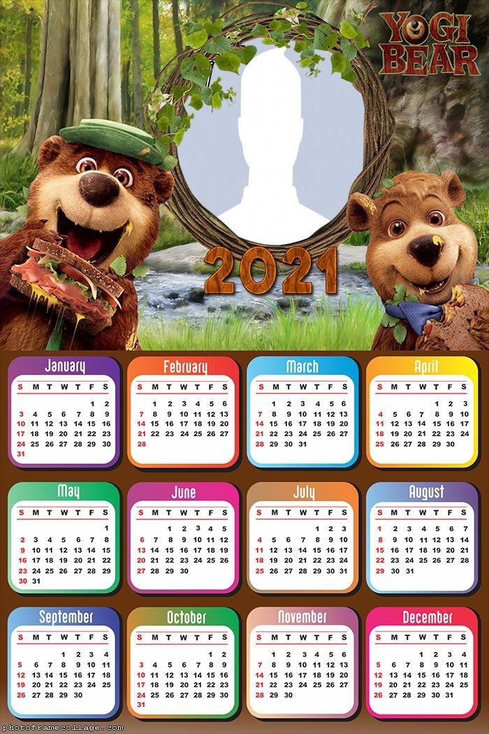 Calendar 2021 Boo-Boo Bear