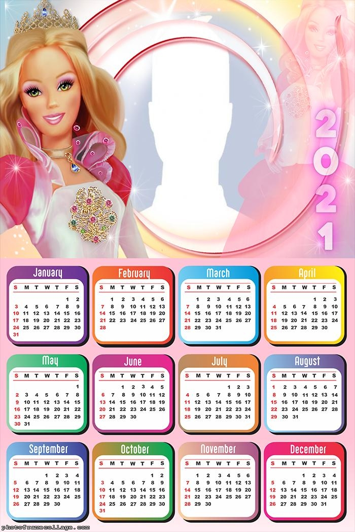 Calendar 2021 Barbie Doll