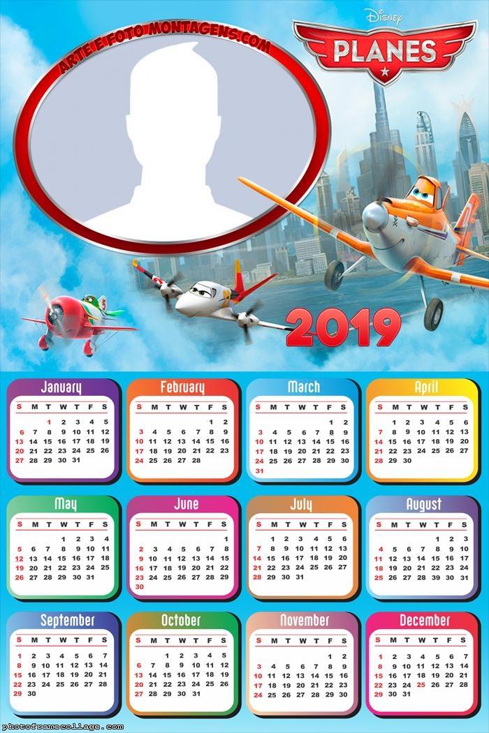 Planes Disney Calendar 2019