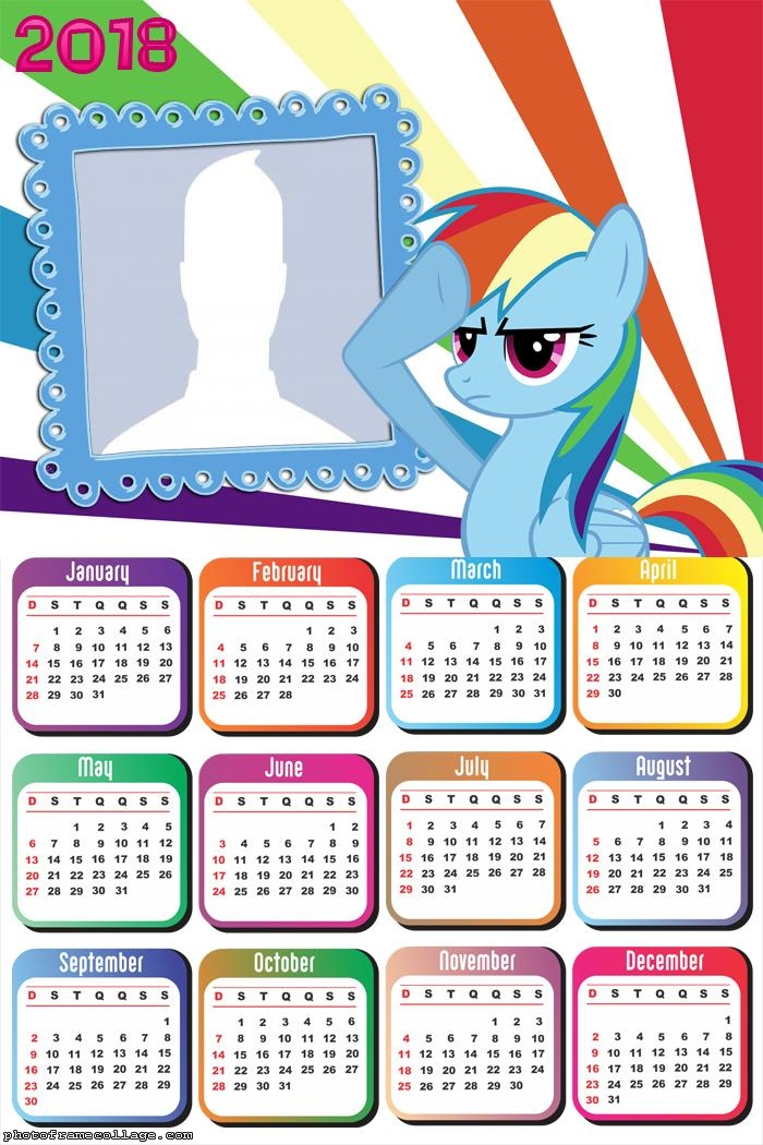 Calendar 2018 My Little Pony