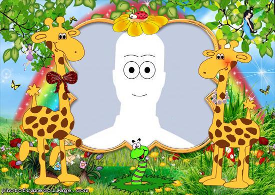 Photo Collage Maker Giraffes Cartoon