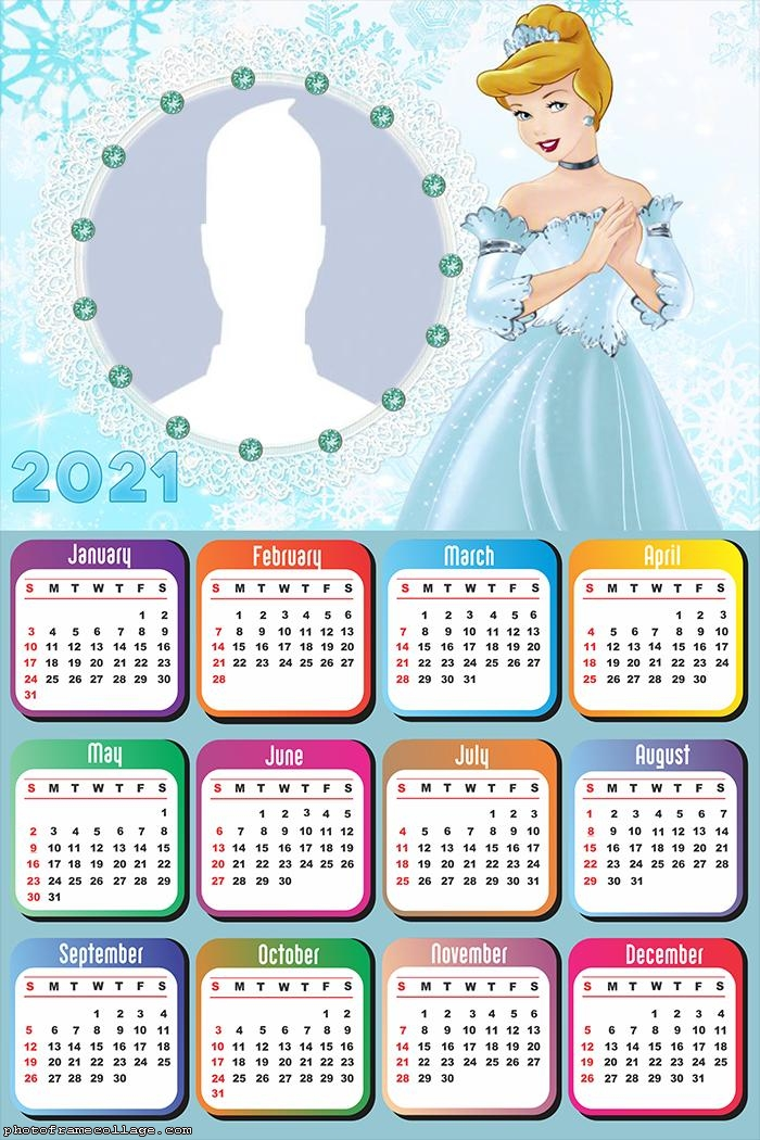 Princess Cinderella Disney Calendar 2021