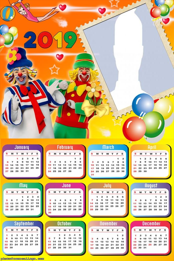 Clown Patati and Patata Calendar 2019