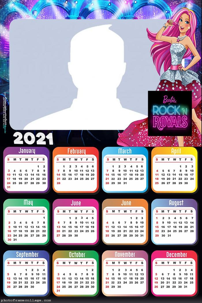 Calendar 2021 Barbie in Rock Royals