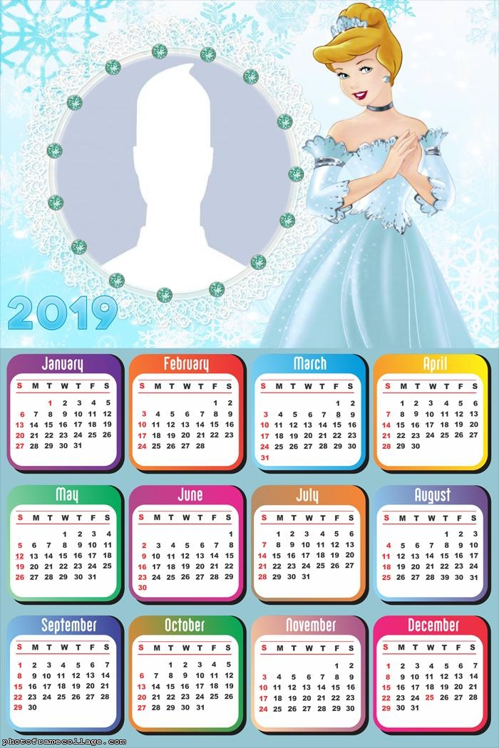 Cinderella Princess Calendar 2019