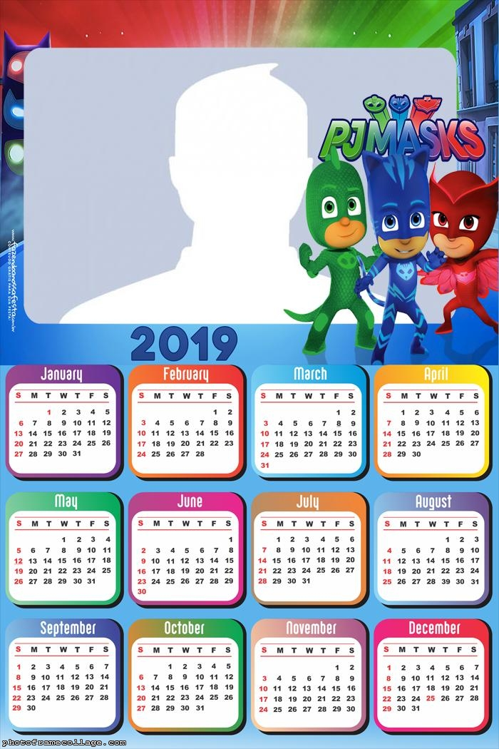 PJ Masks Calendar 2019