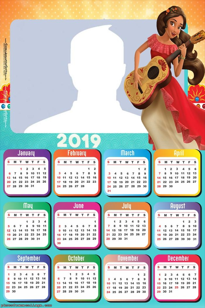 Elena of Avalor Calendar 2019