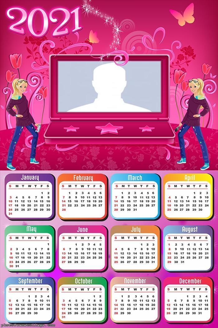Calendar 2021 Babie Notebook Photo Collage