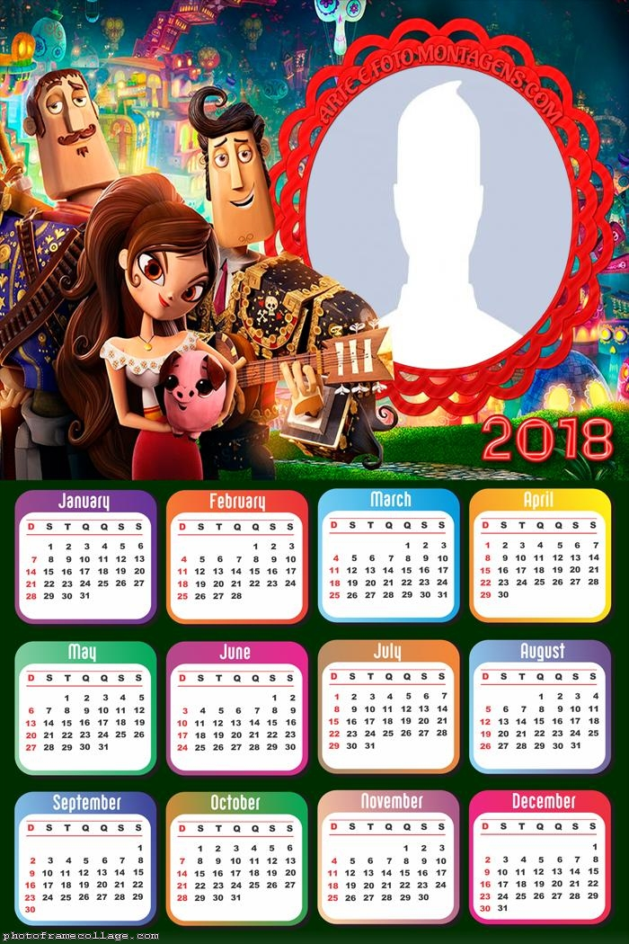 Calendar 2018 The Book of Life