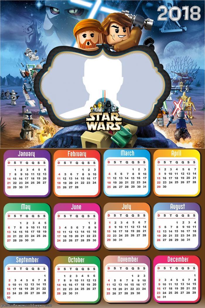 Calendar 2018 Lego Star Wars
