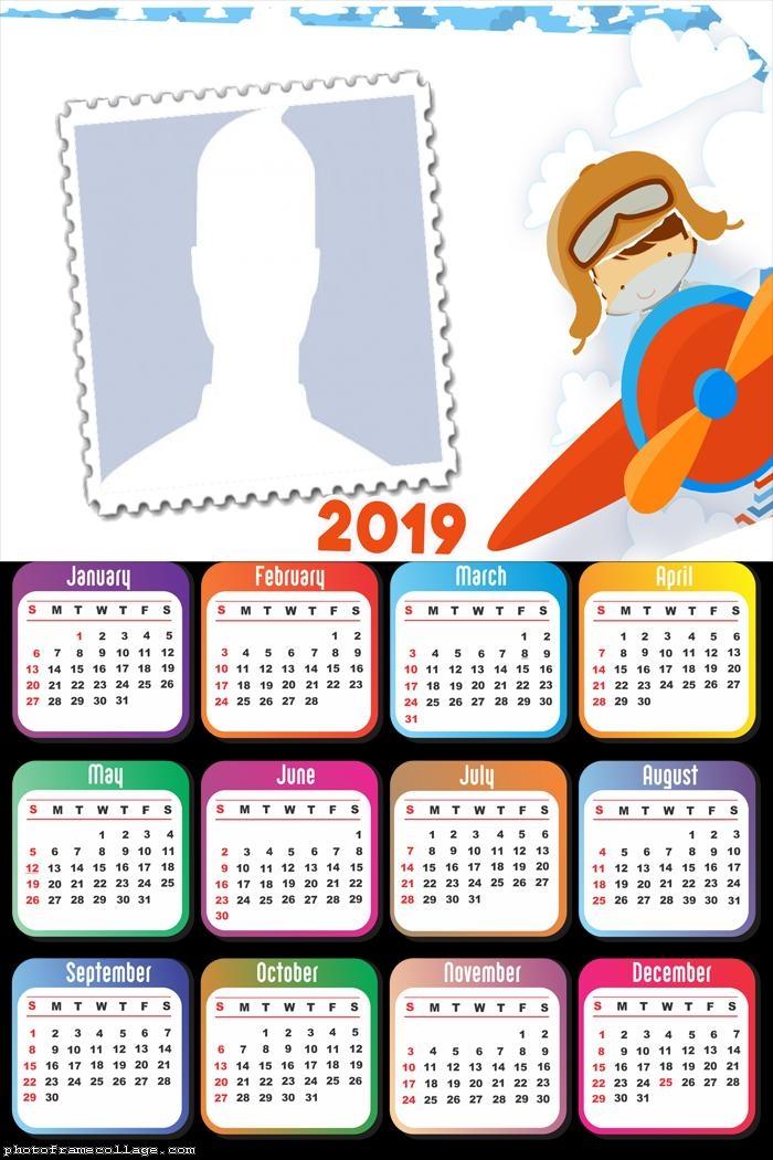 Aviator Boy Calendar 2019