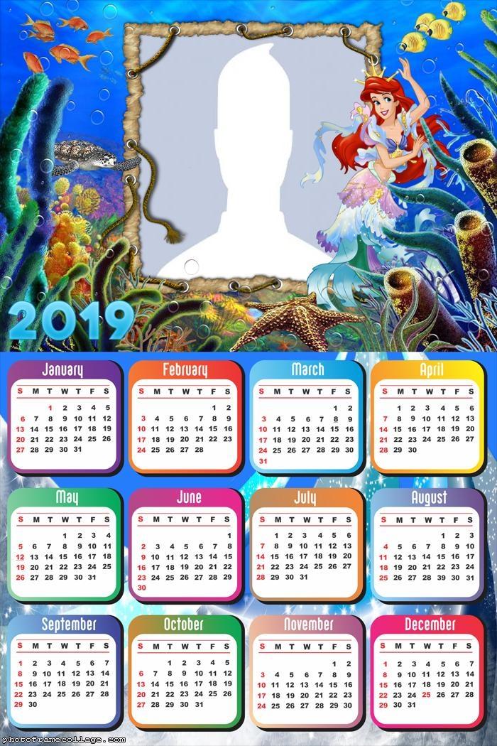 The Little Mermaid Calendar 2019