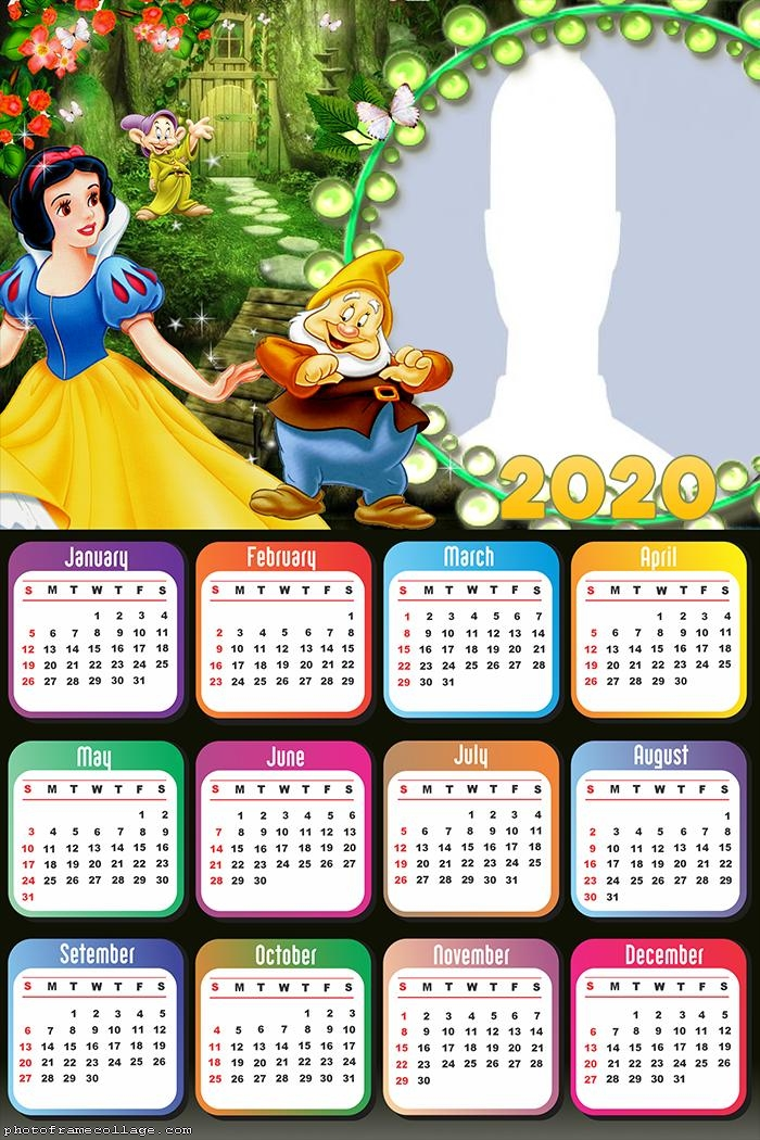 Snow White and the Seven Dwarfs Calendar 2020