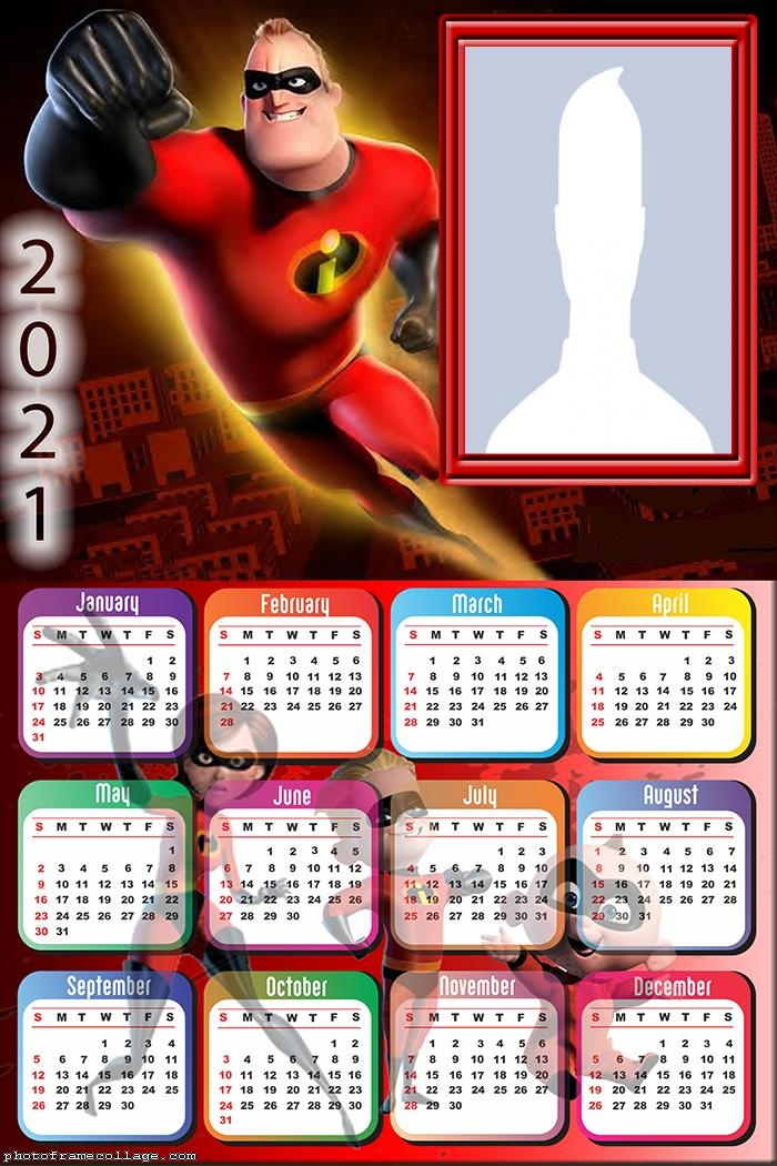 The Incredibles Calendar 2021