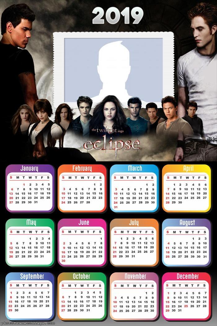 Twilight Eclipse Calendar 2019