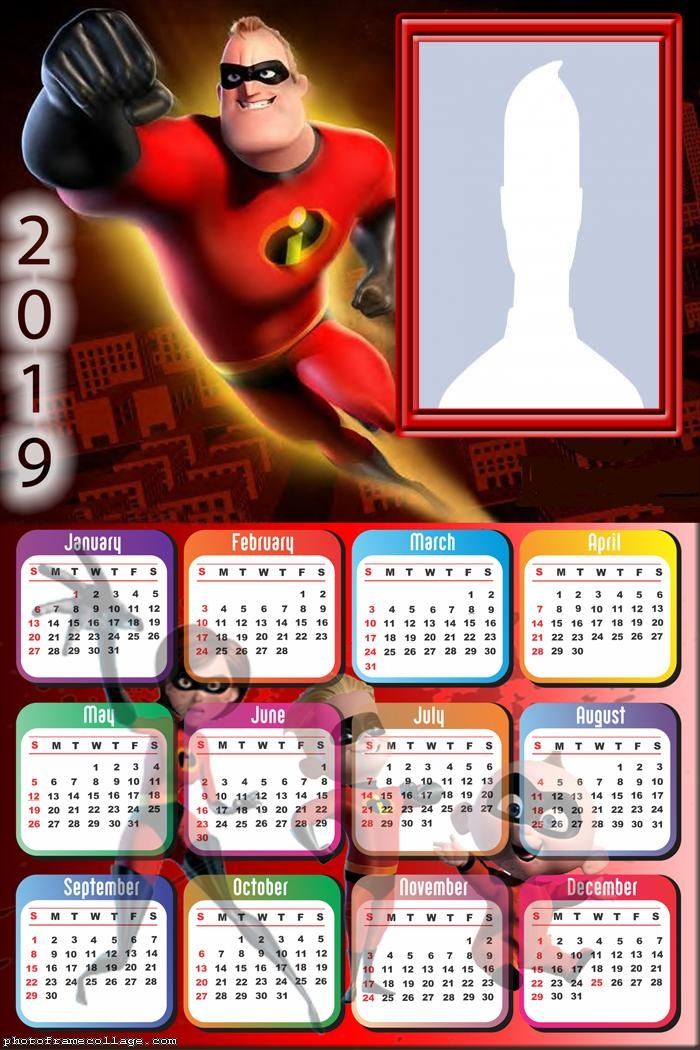 Mr Incredible Calendar 2019
