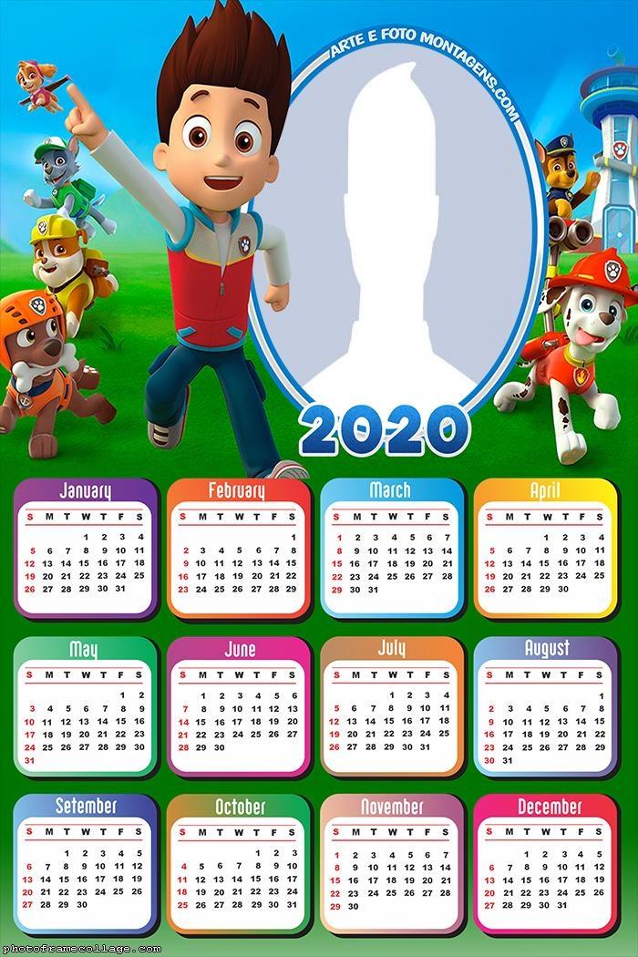 Paw Patrol Live Calendar 2020
