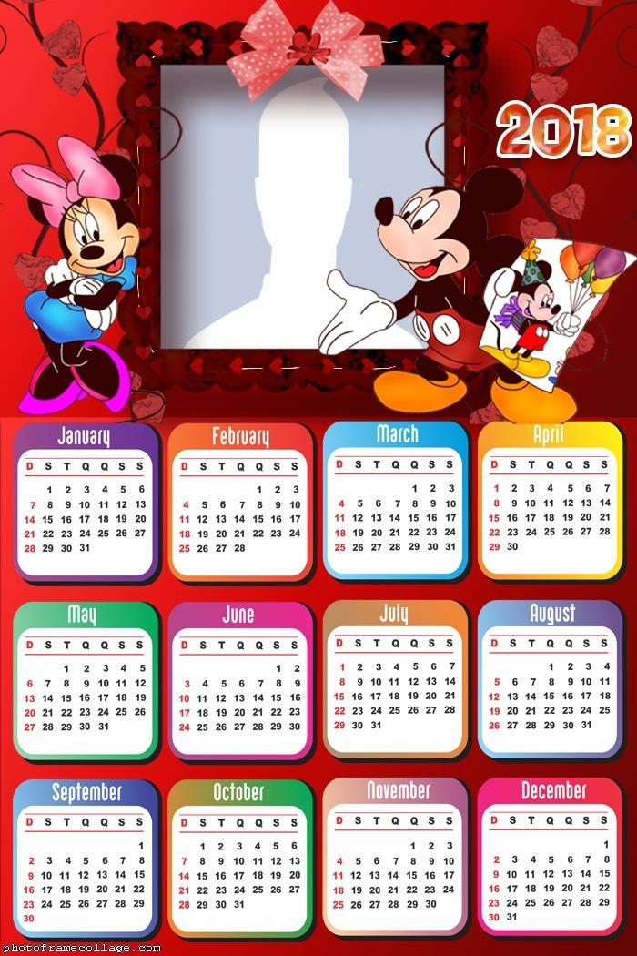 Calendar 2018 Mickey e Minnie