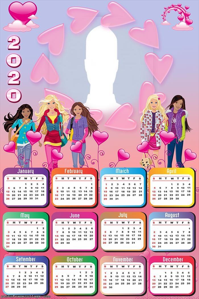 Barbie Fashion Calendar 2020