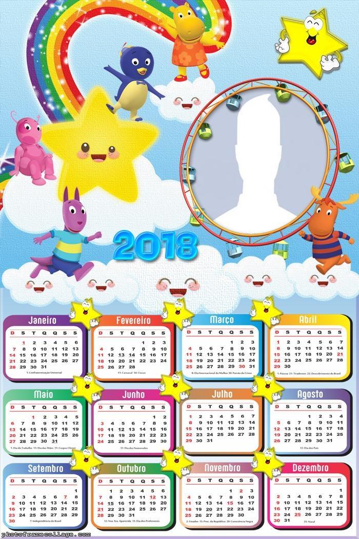Calendar 2018 Backyardigans