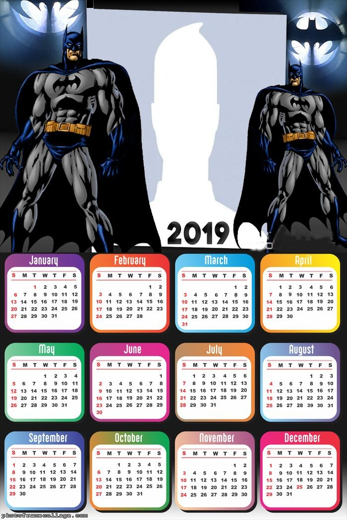 Batman Drawing Calendar 2019