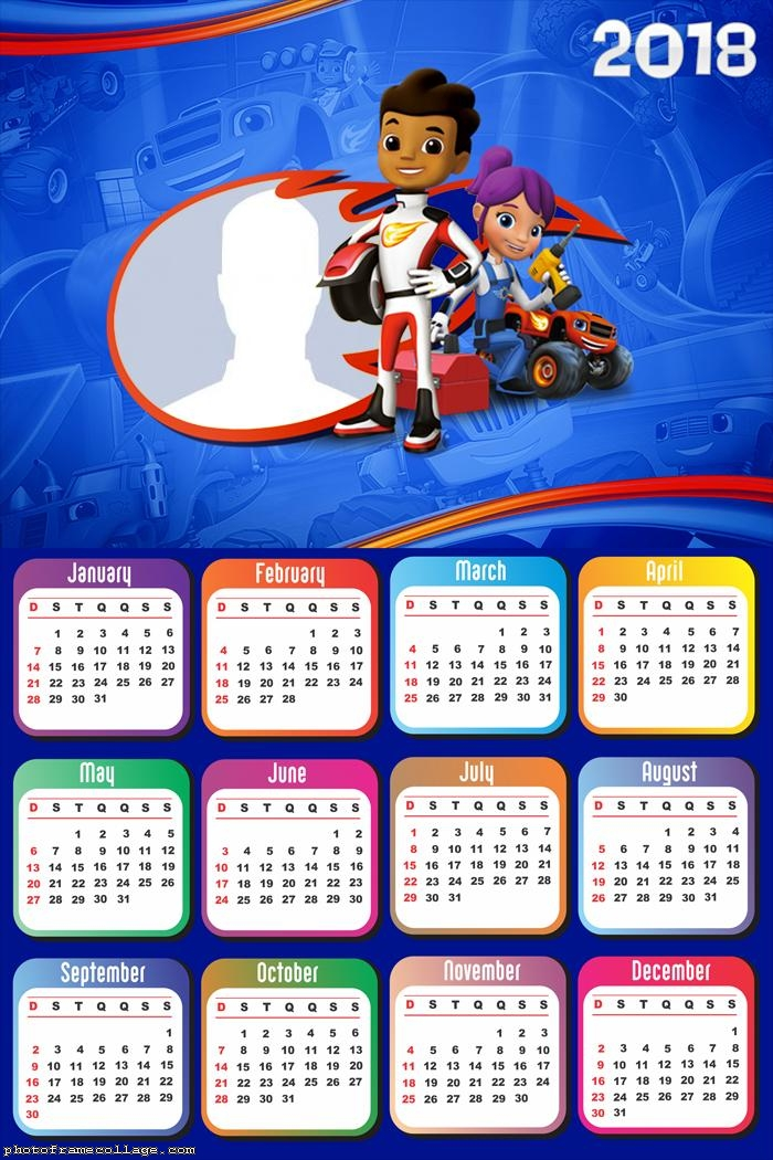 Calendar 2018 Blaze And The Monster Machines