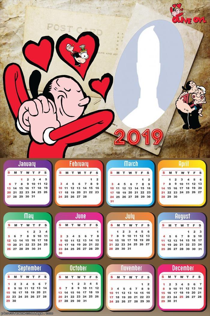 Olive Oyl Calendar 2019